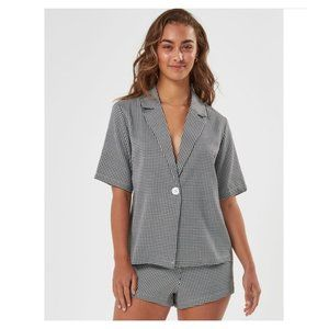 NWT Charlie Holiday Splice Shirt Houndstooth 4